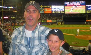 Perry Coolbaugh and his grandson, Chris, hang out at Yankees Stadium